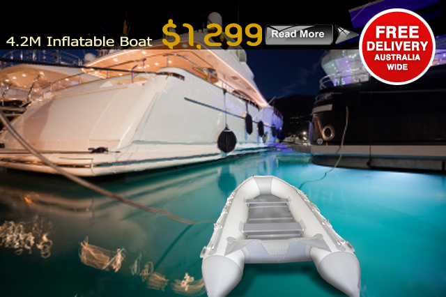 RRP $2999 $2299                                                               Length 4.2M Floor Aluminium Internal Floor Material Marine PVC 1100 Denier Transom Heavy Duty Marine Keel Inflatable Keel Seams 4 Layer...